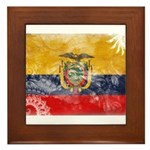 Ecuador Flag Framed Tile