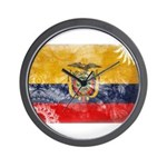 Ecuador Flag Wall Clock