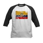 Ecuador Flag Kids Baseball Jersey