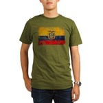 Ecuador Flag Organic Men's T-Shirt (dark)