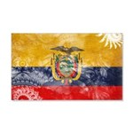 Ecuador Flag 22x14 Wall Peel