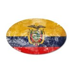 Ecuador Flag 38.5 x 24.5 Oval Wall Peel
