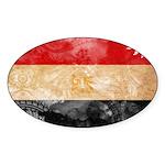 Egypt Flag Sticker (Oval)