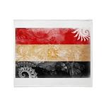 Egypt Flag Throw Blanket