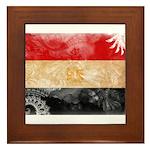 Egypt Flag Framed Tile