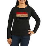 Egypt Flag Women's Long Sleeve Dark T-Shirt