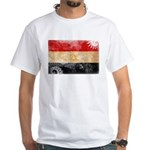 Egypt Flag White T-Shirt