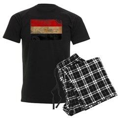 Egypt Flag Men's Dark Pajamas