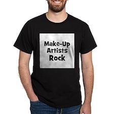 MAKE-UP ARTISTS  Rock Black T-Shirt