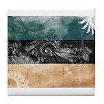 Estonia Flag Tile Coaster