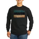 Estonia Flag Long Sleeve Dark T-Shirt