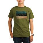 Estonia Flag Organic Men's T-Shirt (dark)