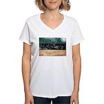 Estonia Flag Women's V-Neck T-Shirt