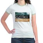 Estonia Flag Jr. Ringer T-Shirt