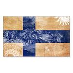 Finland Flag Sticker (Rectangle 50 pk)