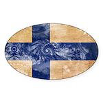 Finland Flag Sticker (Oval)