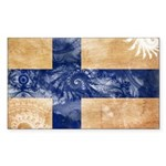 Finland Flag Sticker (Rectangle)