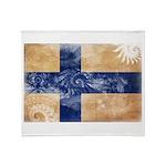 Finland Flag Throw Blanket