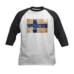 Finland Flag Kids Baseball Jersey