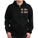 Finland Flag Zip Hoodie (dark)