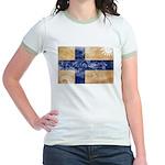 Finland Flag Jr. Ringer T-Shirt