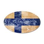 Finland Flag 22x14 Oval Wall Peel