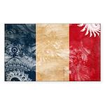France Flag Sticker (Rectangle 50 pk)