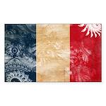 France Flag Sticker (Rectangle 10 pk)