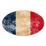 France Flag Sticker (Oval)
