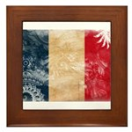 France Flag Framed Tile