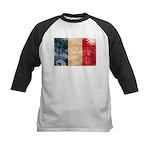 France Flag Kids Baseball Jersey