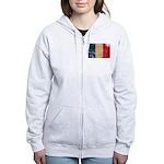 France Flag Women's Zip Hoodie