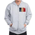 France Flag Zip Hoodie