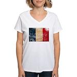 France Flag Women's V-Neck T-Shirt