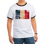 France Flag Ringer T