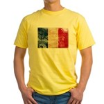 France Flag Yellow T-Shirt