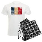 France Flag Men's Light Pajamas