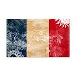 France Flag 22x14 Wall Peel