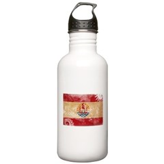 French Polynesia Flag Water Bottle
