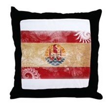 French Polynesia Flag Throw Pillow