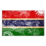 Gambia Flag Sticker (Rectangle 50 pk)