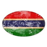 Gambia Flag Sticker (Oval 50 pk)
