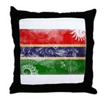 Gambia Flag Throw Pillow