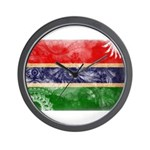 Gambia Flag Wall Clock