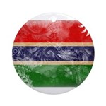 Gambia Flag Ornament (Round)