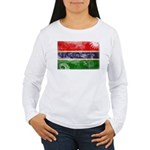 Gambia Flag Women's Long Sleeve T-Shirt