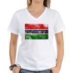 Gambia Flag Women's V-Neck T-Shirt