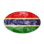 Gambia Flag 38.5 x 24.5 Oval Wall Peel