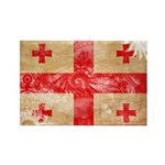 Georgia Flag Rectangle Magnet (100 pack)