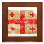 Georgia Flag Framed Tile